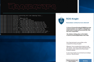 RDS-Knight 3.0 Detects and Stops Ransomware